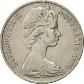 Australia, Elizabeth II, 20 Cents, 1970, AU(50-53), Copper-nickel, KM:66