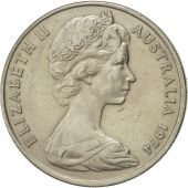 Australia, Elizabeth II, 20 Cents, 1974, AU(50-53), Copper-nickel, KM:66
