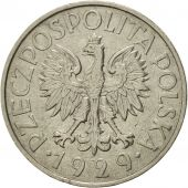 Pologne, Zloty, 1929, Warsaw, SUP, Nickel, KM:14