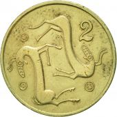 Chypre, 2 Cents, 1983, SUP, Nickel-brass, KM:54.1