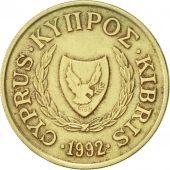 Chypre, 10 Cents, 1992, TTB, Nickel-brass, KM:56.3