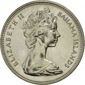 Bahamas, Elizabeth II, 25 Cents, 1969, Franklin Mint, SUP, Nickel, KM:6