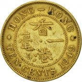Hong Kong, George VI, 10 Cents, 1949, AU(50-53), Nickel-brass, KM:25