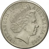 Australia, Elizabeth II, 5 Cents, 2002, AU(55-58), Copper-nickel, KM:401