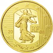 France, 5 Euro, 2008, FDC, Or, KM:1538