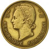 French West Africa, 25 Francs, 1956, Paris, TTB+, Aluminum-Bronze, KM:7