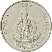 Vanuatu, 10 Vatu, 1990, British Royal Mint, SUP, Copper-nickel, KM:6