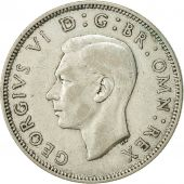 Great Britain, George VI, Florin, Two Shillings, 1939, AU(50-53), Silver, KM:855