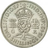 Great Britain, George VI, Florin, Two Shillings, 1942, AU(50-53), Silver, KM:855