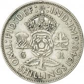 Great Britain, George VI, Florin, Two Shillings, 1940, AU(50-53), Silver, KM:855