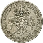 Great Britain, George VI, Florin, Two Shillings, 1948, AU(50-53), Copper-nickel