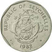 Seychelles, 5 Rupees, 1982, British Royal Mint, AU(55-58), Copper-nickel