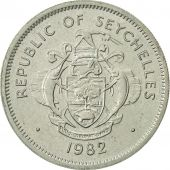 Seychelles, Rupee, 1982, British Royal Mint, AU(55-58), Copper-nickel, KM:50.1
