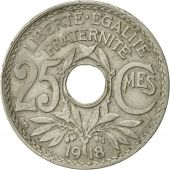 France, Lindauer, 25 Centimes, 1918, EF(40-45), Copper-nickel, KM:867a