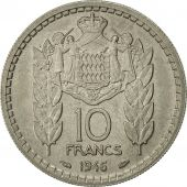 Monaco, Louis II, 10 Francs, 1946, Poissy, AU(55-58), Copper-nickel, KM:123