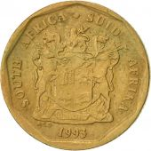 South Africa, 20 Cents, 1993, Pretoria, EF(40-45), Bronze Plated Steel, KM:136