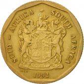 South Africa, 50 Cents, 1992, Pretoria, EF(40-45), Bronze Plated Steel, KM:137