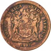 South Africa, 5 Cents, 1993, VF(30-35), Copper Plated Steel, KM:134