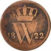 Pays-Bas, William I, Cent, 1822, B+, Cuivre, KM:47