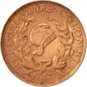 Colombia, Centavo, 1967, EF(40-45), Copper Clad Steel, KM:205a