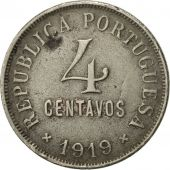 Portugal, 4 Centavos, 1919, TTB, Copper-nickel, KM:566