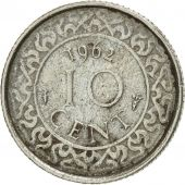 Surinam, 10 Cents, 1962, EF(40-45), Copper-nickel, KM:13