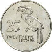 Zambia, 25 Ngwee, 1992, British Royal Mint, AU(50-53), Nickel plated steel