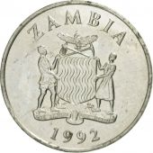 Zambia, 50 Ngwee, 1992, British Royal Mint, AU(50-53), Nickel plated steel