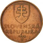 Slovaquie, 50 Halierov, 1996, TTB, Copper Plated Steel, KM:35
