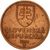 Slovaquie, 50 Halierov, 2004, TTB, Copper Plated Steel, KM:35