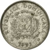 Dominican Republic, 10 Centavos, 1991, TTB, Nickel Clad Steel, KM:70