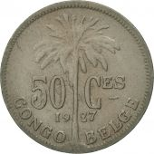 Congo belge, 50 Centimes, 1927, TTB, Copper-nickel, KM:22