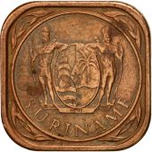Surinam, 5 Cents, 1988, AU(50-53), Copper Plated Steel, KM:12.1b
