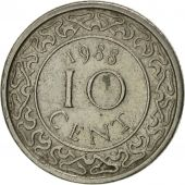 Surinam, 10 Cents, 1988, AU(50-53), Nickel plated steel, KM:13a