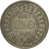 Surinam, 100 Cents, 1987, SUP, Copper-nickel, KM:23