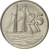 Îles Caïmans, Elizabeth II, 25 Cents, 1992, British Royal Mint, SUP+, Nickel