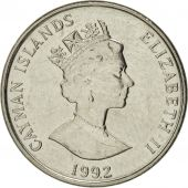 Îles Caïmans, Elizabeth II, 5 Cents, 1992, British Royal Mint, SUP+, Nickel
