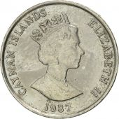 Îles Caïmans, Elizabeth II, 5 Cents, 1987, British Royal Mint, SUP