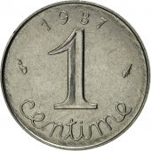 France, Épi, Centime, 1987, Paris, MS(63), Stainless Steel, KM:928, Gadoury:91