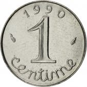 France, Épi, Centime, 1990, Paris, MS(63), Stainless Steel, KM:928, Gadoury:91