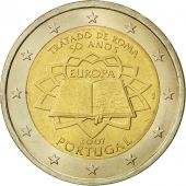 Portugal, 2 Euro, Traité de Rome 50 ans, 2007, MS(60-62), Bi-Metallic, KM:771