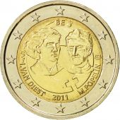 Belgium, 2 Euro, Womens Day, 2011, MS(63), Bi-Metallic, KM:308