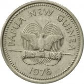 Papua New Guinea, 10 Toea, 1976, TTB, Copper-nickel, KM:4
