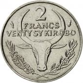 Madagascar, 2 Francs, 1986, Paris, SUP, Stainless Steel, KM:9