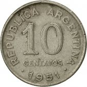 Argentine, 10 Centavos, 1951, TTB, Copper-nickel, KM:47