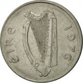 IRELAND REPUBLIC, 5 Pence, 1976, TTB, Copper-nickel, KM:22