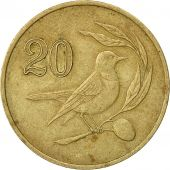 Chypre, 20 Cents, 1985, TTB, Nickel-brass, KM:57.2