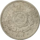 Brésil, Pedro II, 100 Reis, 1871, TTB, Copper-nickel, KM:477