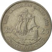 East Caribbean States, Elizabeth II, 25 Cents, 2004, British Royal Mint
