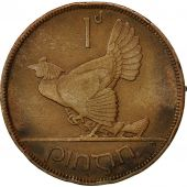 IRELAND REPUBLIC, Penny, 1933, EF(40-45), Bronze, KM:3